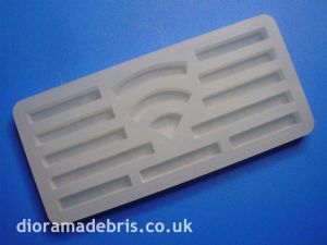 "1:24 Scale 6"" Wide Curbstones Mould (1240075)"